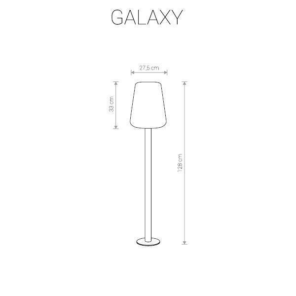 Уличный светильник Galaxy с плафоном из пластика