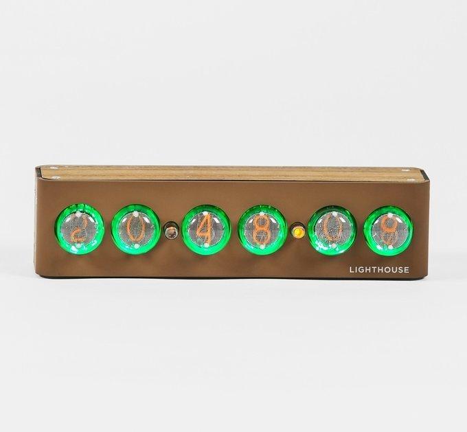 Часы на газоразрядных индикаторах Lighthouse 2.0 Brown