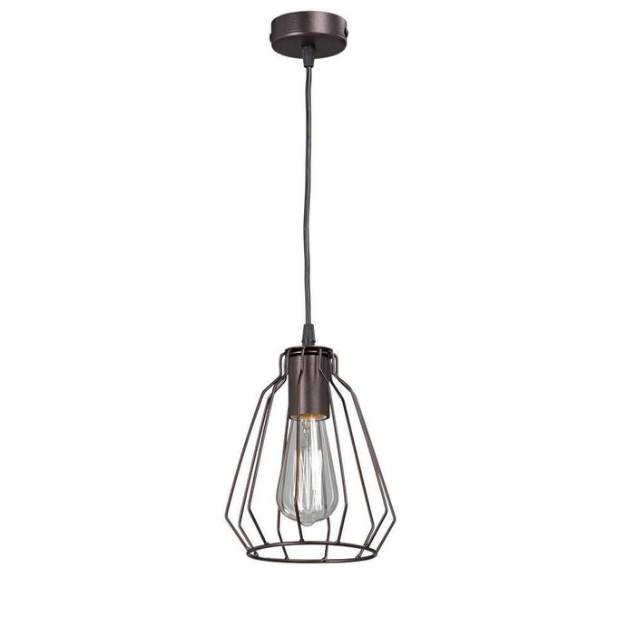 Подвесной светильник из металла коричневого цвета
