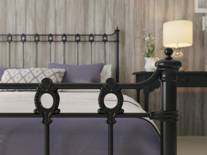 Кровать Капель 140х200 черно-глянцевого цвета
