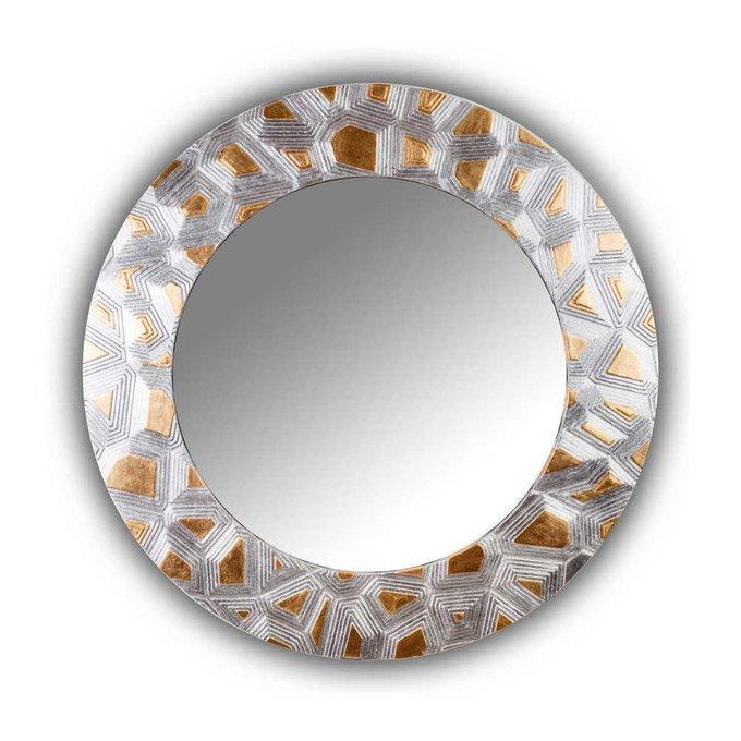 Настенное зеркало FASHION GROOVE gold-silver