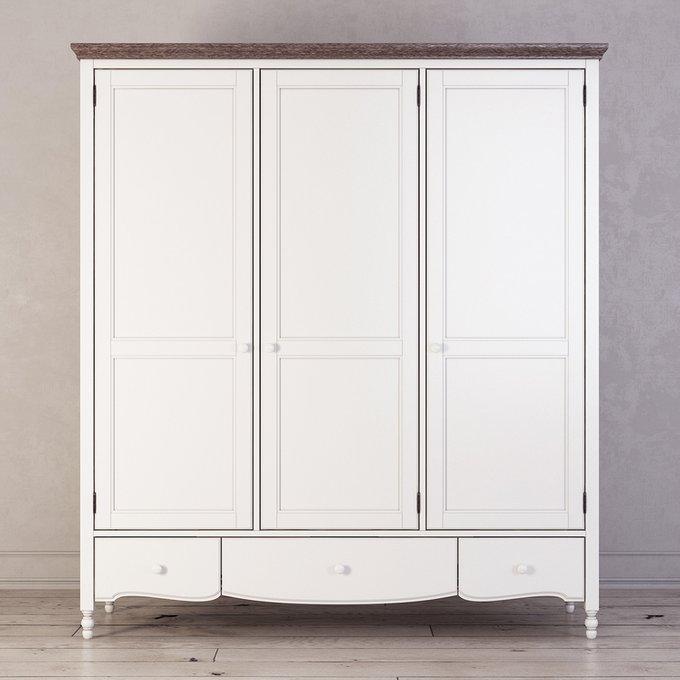 Шкаф трехстворчатый Leblanc белого цвета