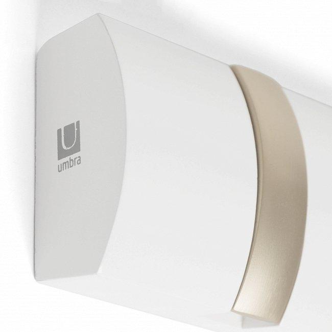 Вешалка настенная горизонтальная Flip белого цвета