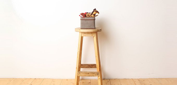 Корзинка для хранения Casy Home с ручками коричневая