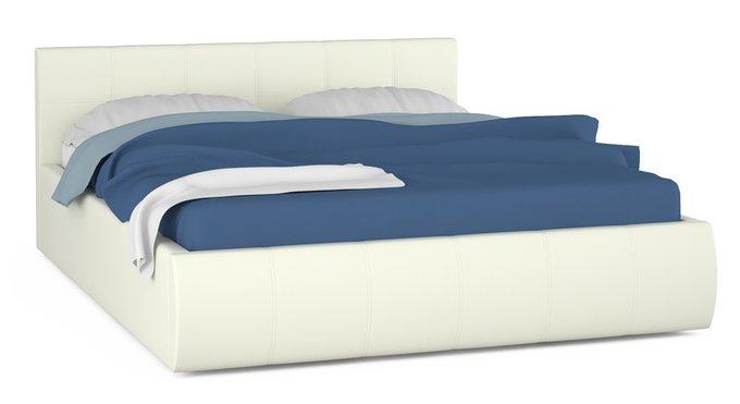 Кровать Афина белого цвета с ортопедическим основанием 160х200