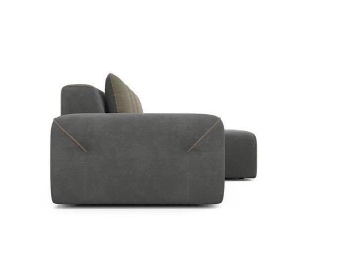 Угловой диван-кровать Portu серого цвета