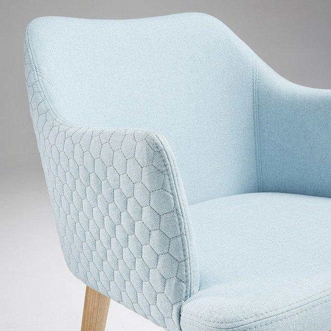 Кресло Danai голубое тканевое