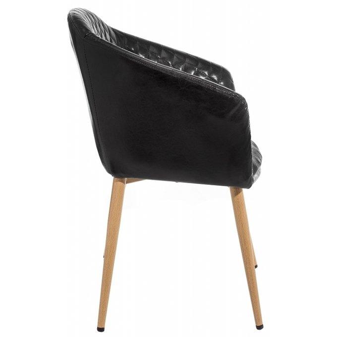 Обеденный стул Patrol shiny black на металлокаркасе