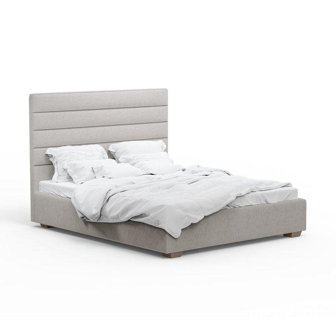 Кровать Джейси светло-серого цвета 200х200 с подъемным механизмом