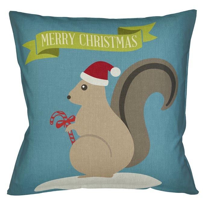 Декоративная арт подушка Новогоднее настроение версия 29