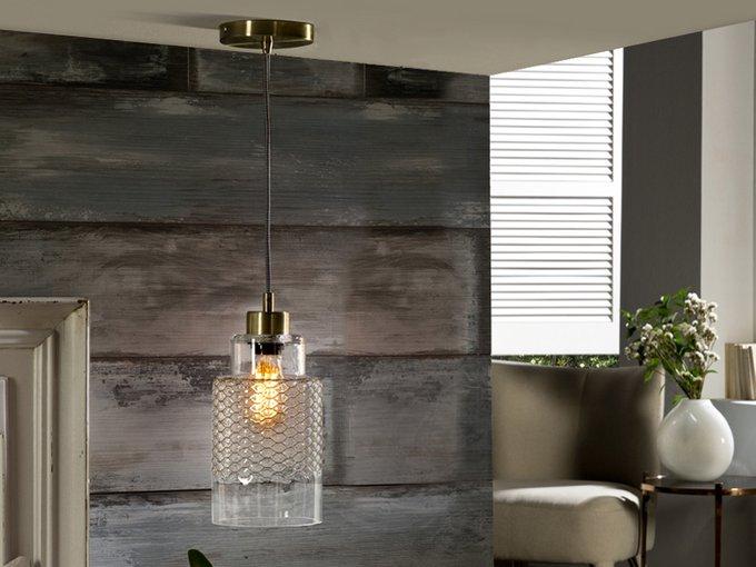 Подвесной светильник Schuller Isolda с плафоном из стекла