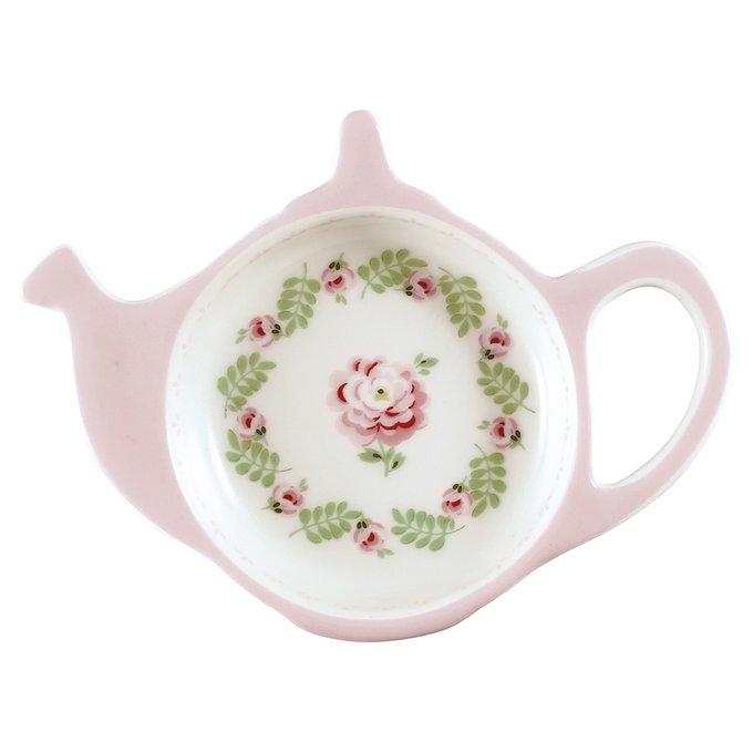 Блюдце для чайных пакетиков Lily petit white из фарфора