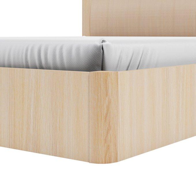 Кровать Магна 120х600 бежевого цвета с подъемным механизмои