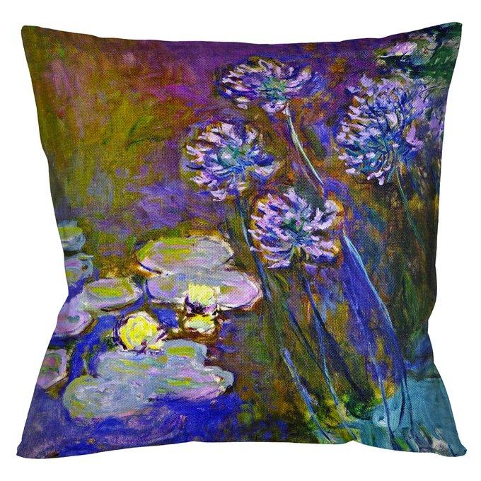 Декоративная арт подушка Агапантус