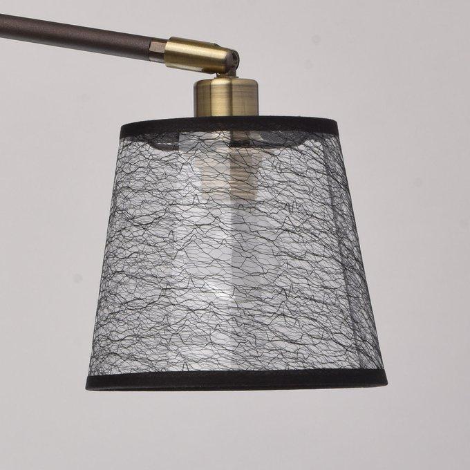 Подвесная люстра Лацио с черными абажурами