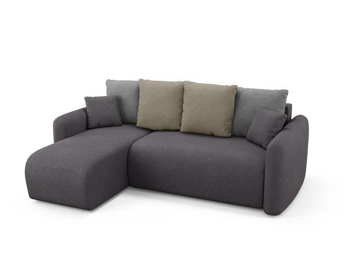 Угловой диван-кровать левый Arti темно-серого цвета