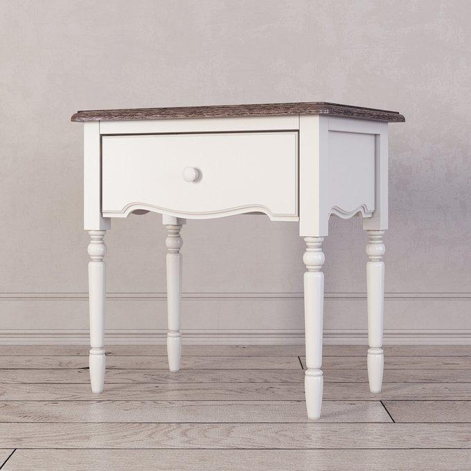 Прикроватная тумба Leblanc с ящиком белого цвета