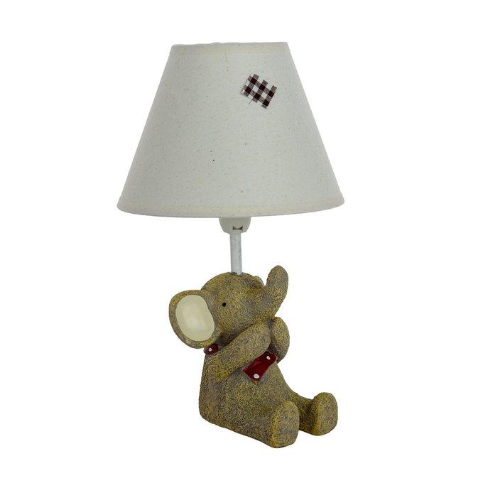 Детская настольная лампа Слоник Ничего не скажу