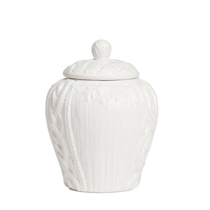 Маленькая декоративная керамическая ваза с крышкой для хранения продуктов Lindley