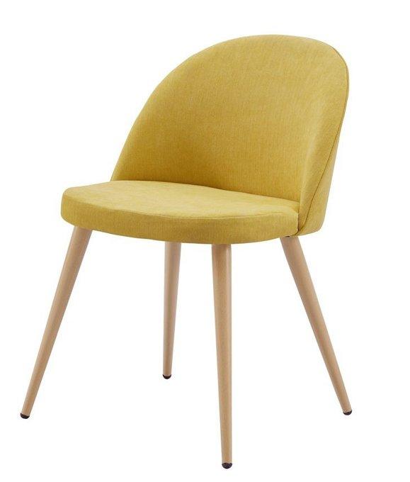 Желтый стул Томас с мягким сидением