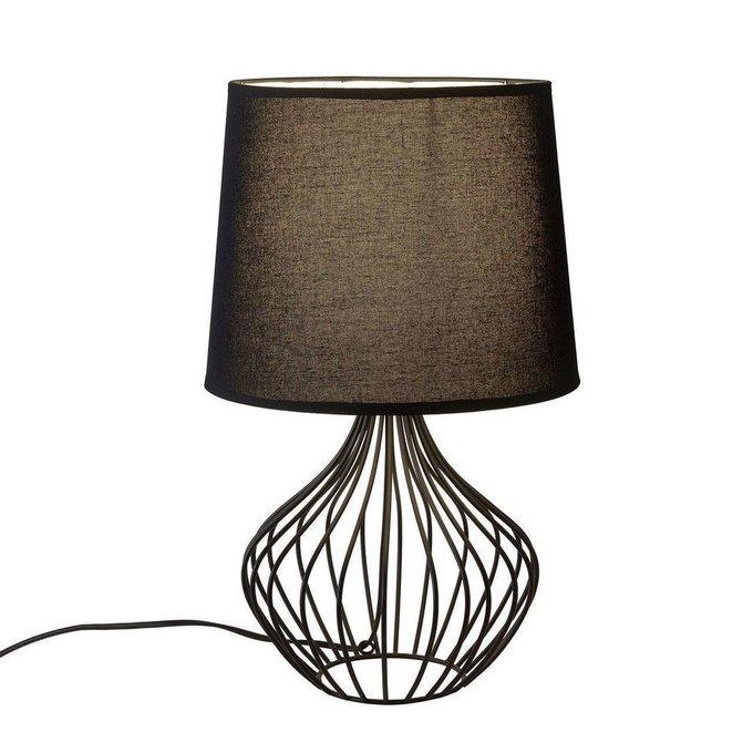 Настольная лампа Caroso черного цвета