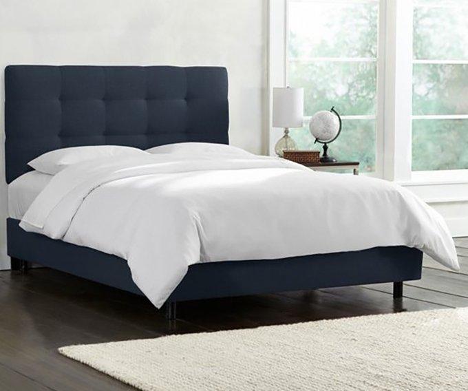 Кровать Alice Tufted Blue синего цвета 160х200