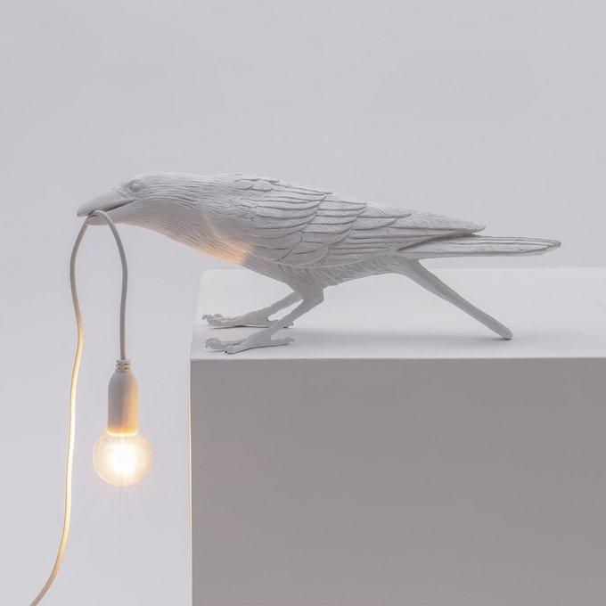 Настольная лампа Bird White Playing