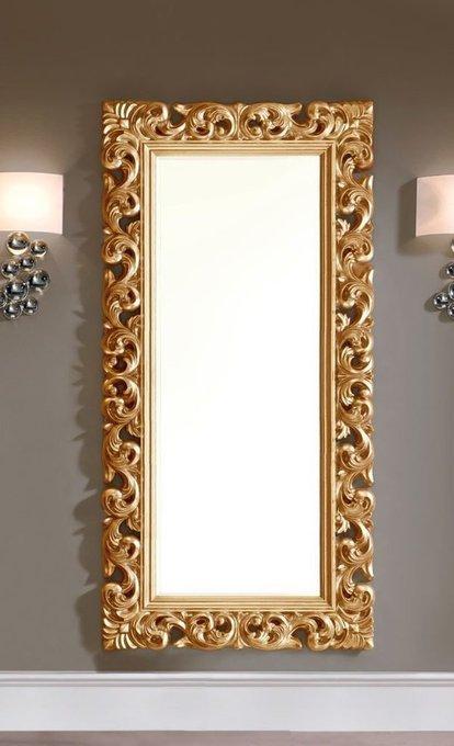 Настенное зеркало Dupen Gold в раме золотого цвета