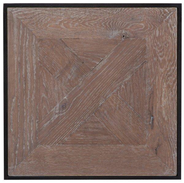 Стол журнальный Parquette на металлическом основании с деревянной столешницей