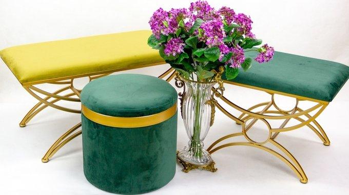 Банкетка Josephine зеленого цвета