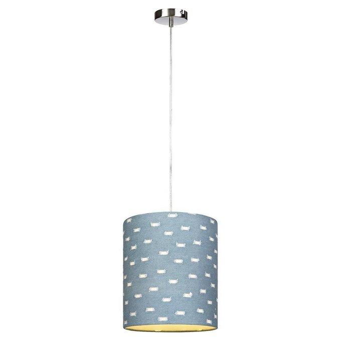 Подвесной светильник с синим плафоном