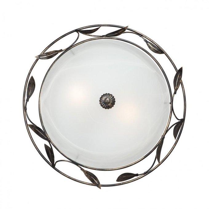 Настенно-потолочный светильник из металла и стекла
