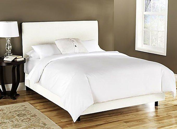 Кровать Frank Platform White белого цвета 180х200