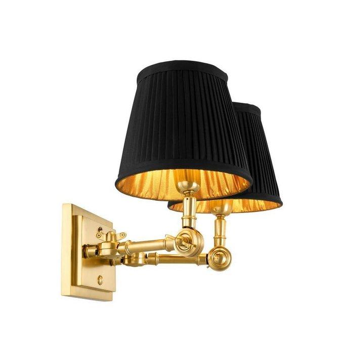 Настенная лампа Wentworth Double с черными плафонами