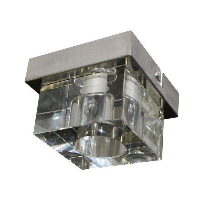 Потолочный светильник Делос из металла и стекла