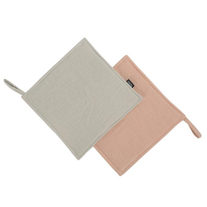 Прихватка Essential из умягченного льна розово-пудрового