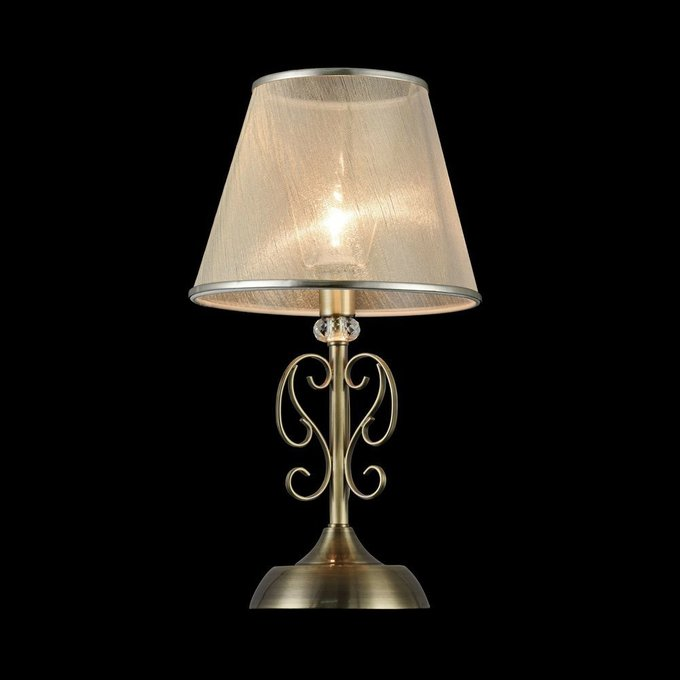 Настольная лампа Driana из металла цвета античной бронзы