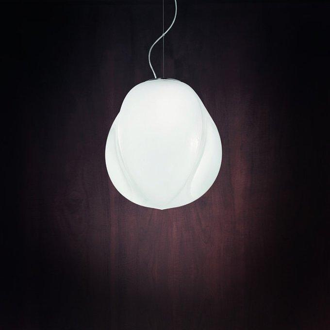 Подвесной светильник Vistosi PENTA из муранского стекла матового белого цвета