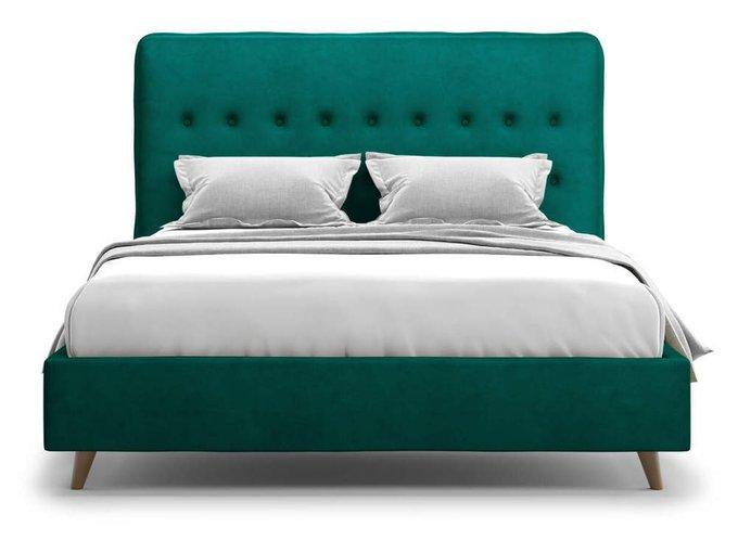 Кровать Bergamo зеленого цвета 160х200