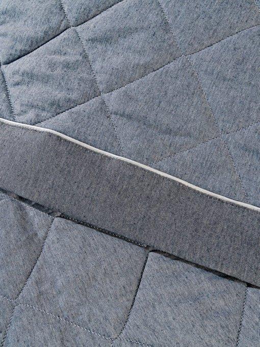Стеганное покрывало Vespa blue 230х250 синего цвета