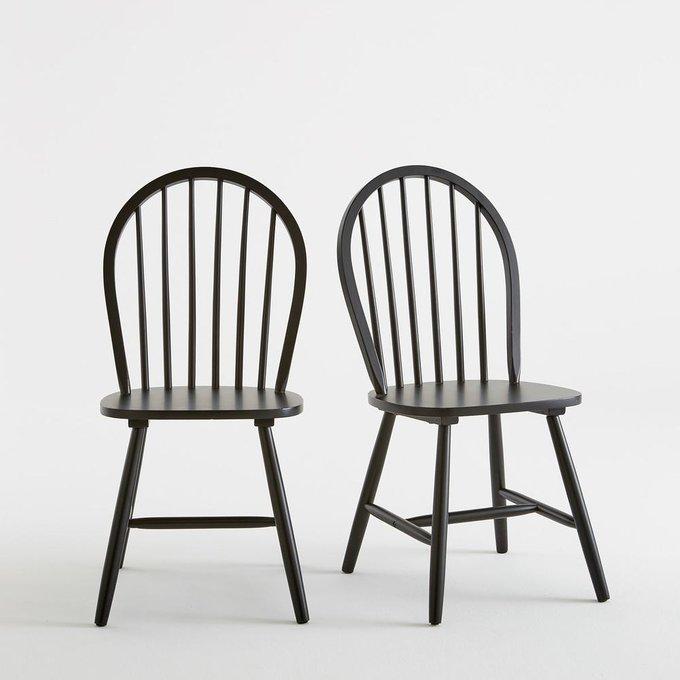 Комплект из двух стульев Windsor черного цвета