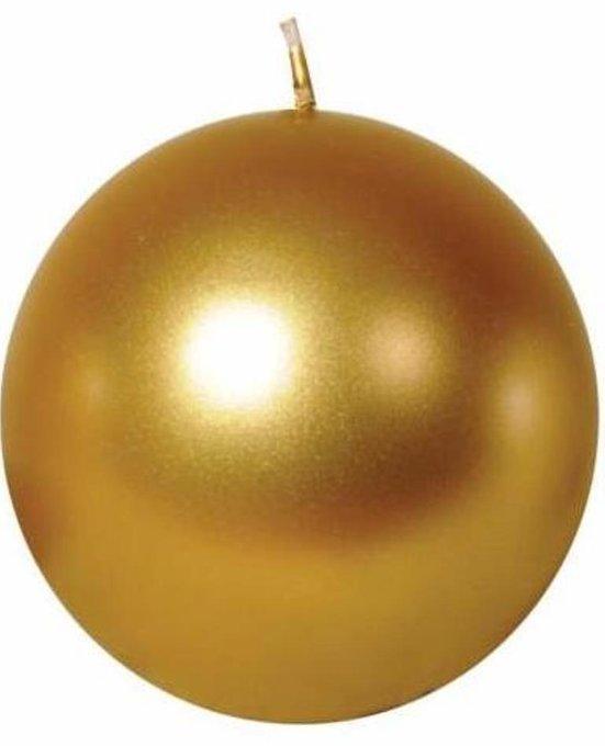 Свеча в форме шара золотистого цвета