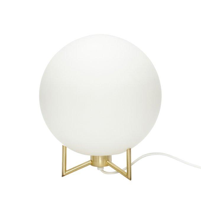 Настольная лампа с белым плафоном
