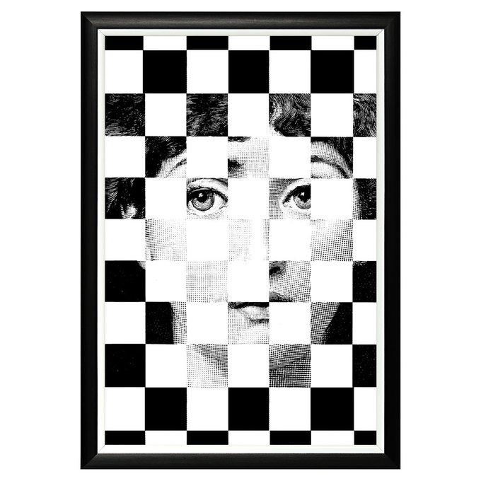 Арт-постер Лина версия Эксельсиор в черно-белой раме