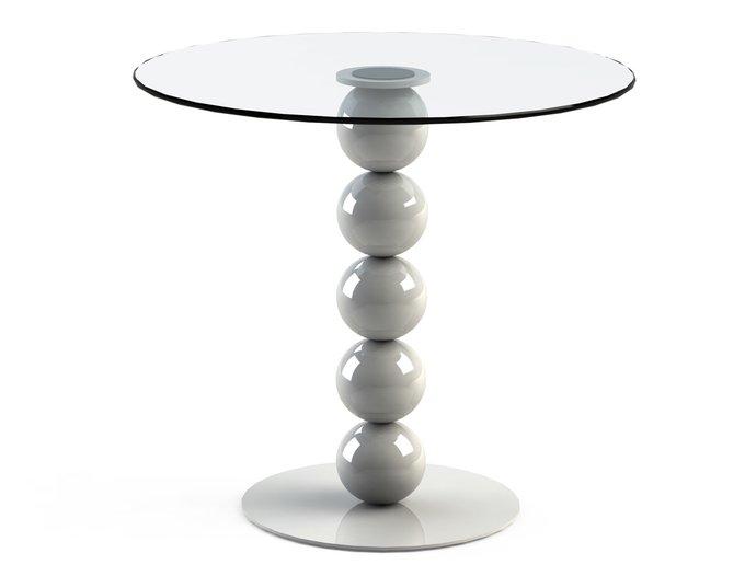 """Обеденный стол  """"BLINTER White"""" со столешницей из закаленного стекла"""