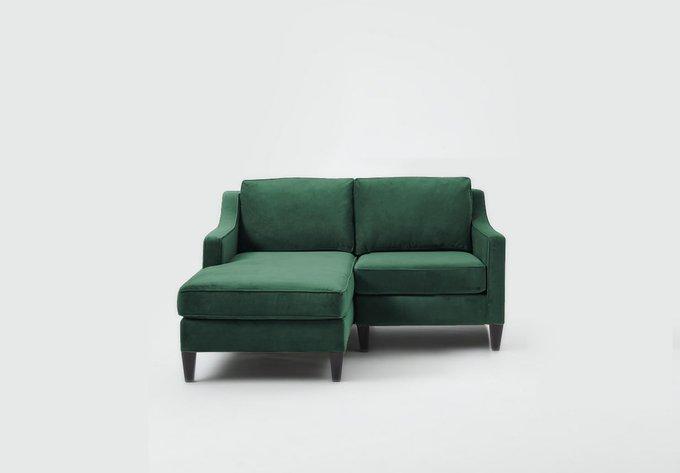 Угловой диван Грегори Премиум зеленого цвета