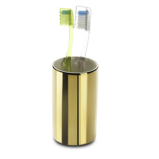 Керамический стакандлязубныхщеток золотистого цвета