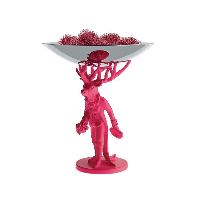 Блюдо декоративное Alessi furbo розовое