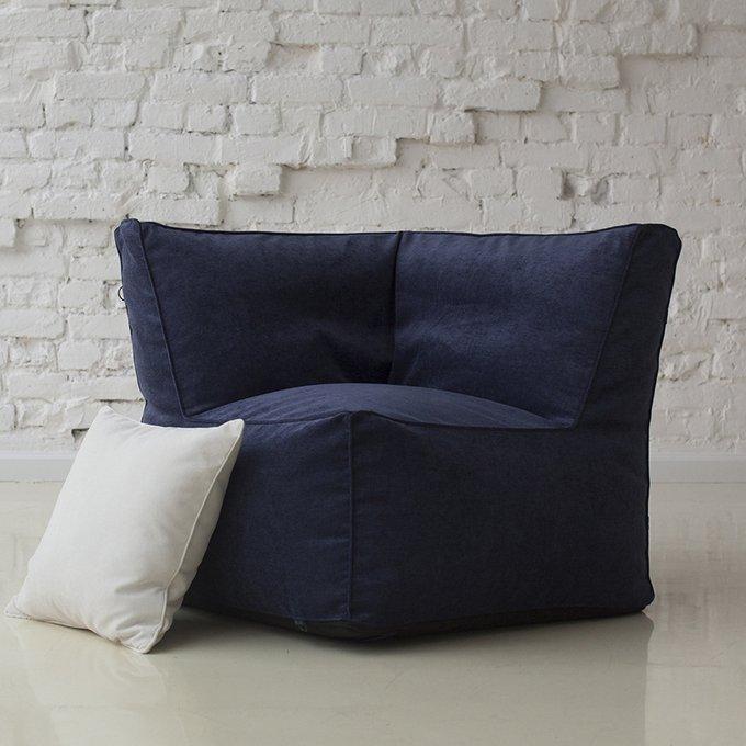 Модульное угловое кресло темно-синего цвета