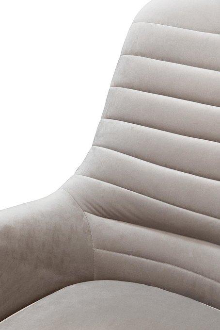 Кресло-качалка светло-серого цвета